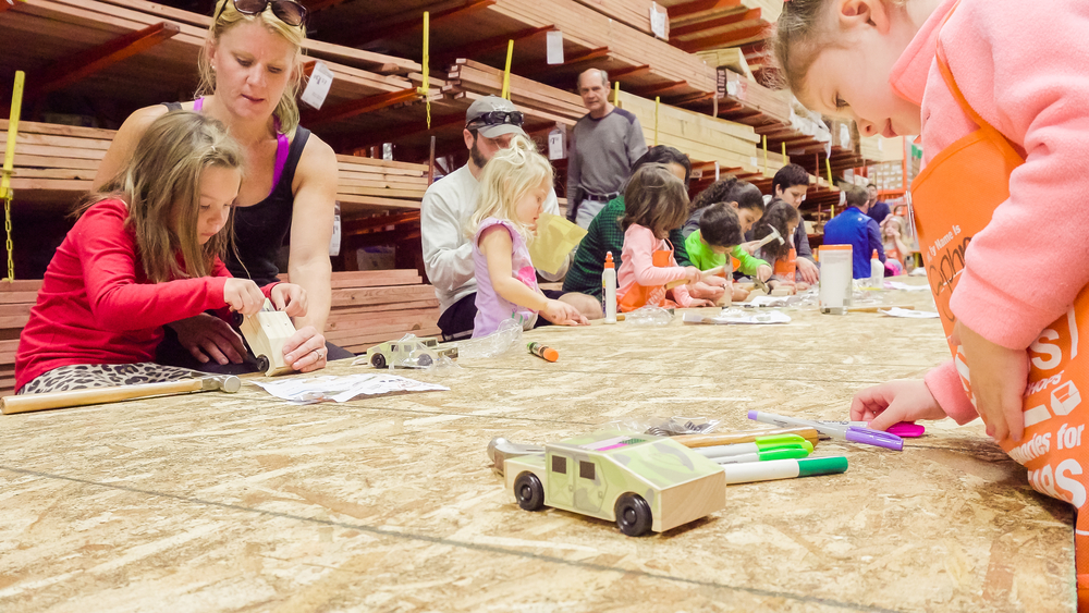 Home Depot Workshops: Free Kids' and Women's Building Classes