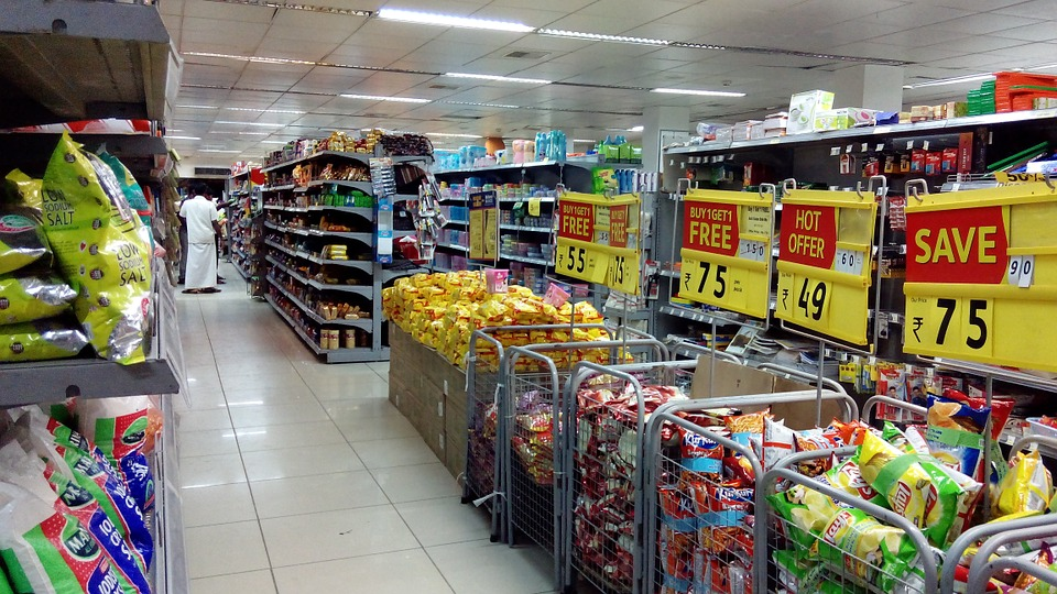 supermarket shopping sales store