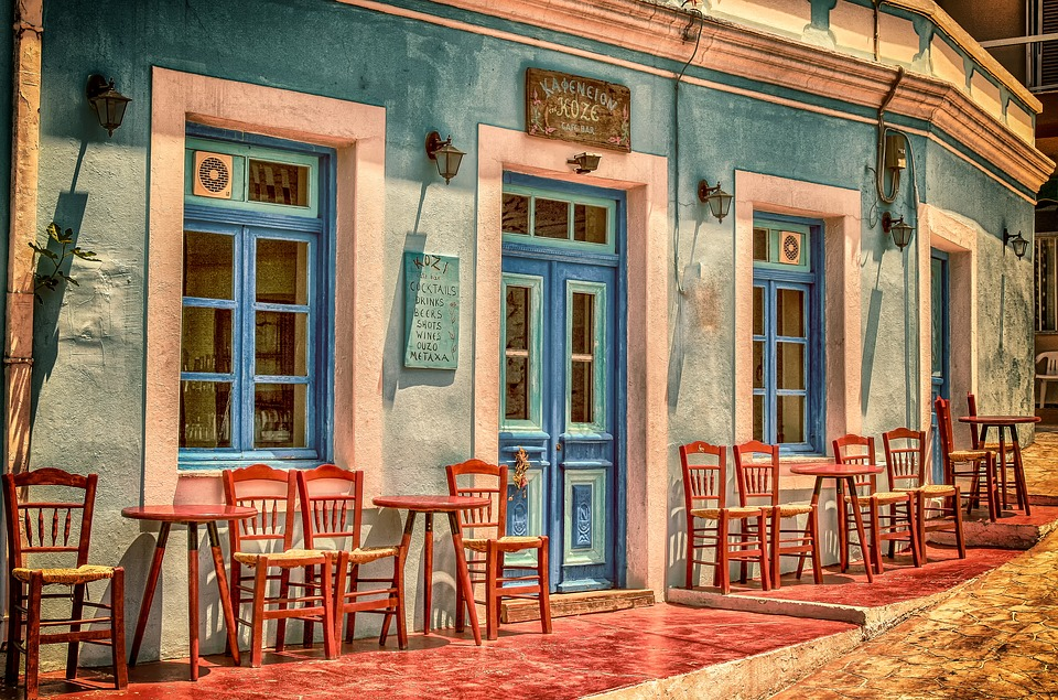 cafe architecture building greece