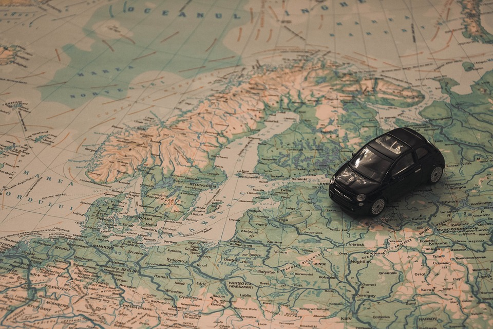 holidays car travel route